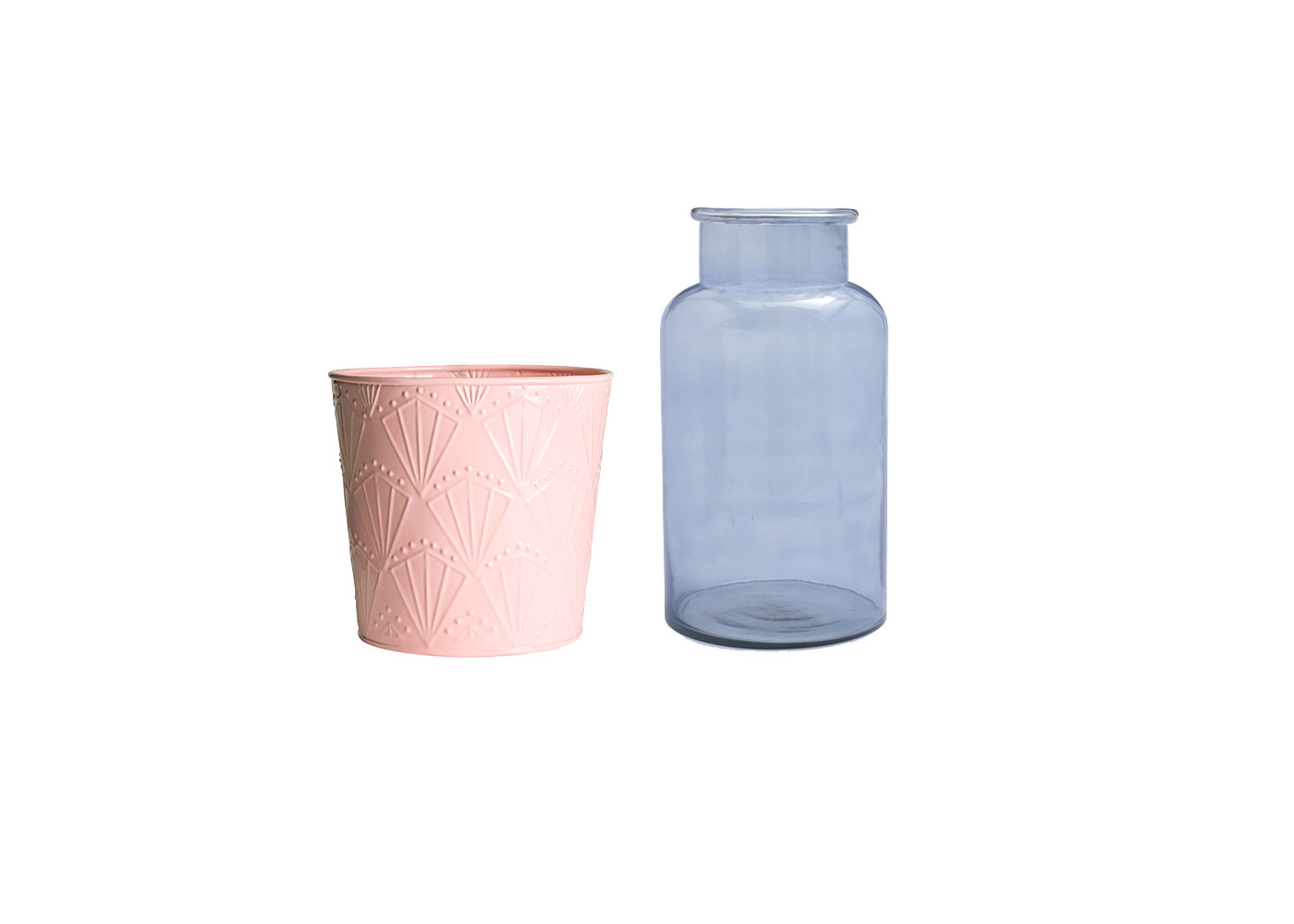 Pink and Blue Vases