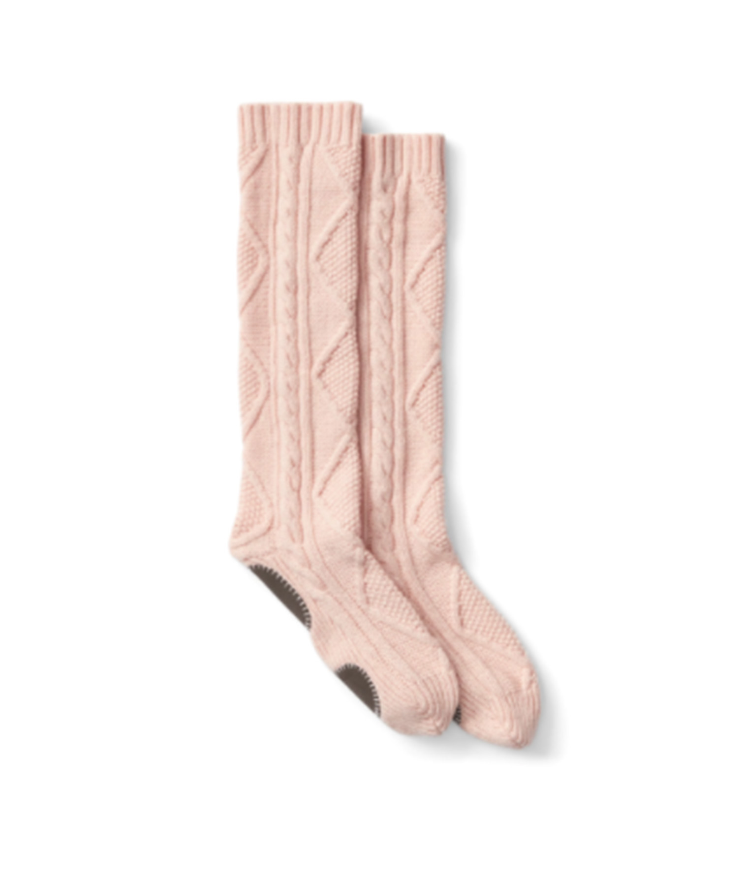 Merino Wool Cable-Knit Crew Socks