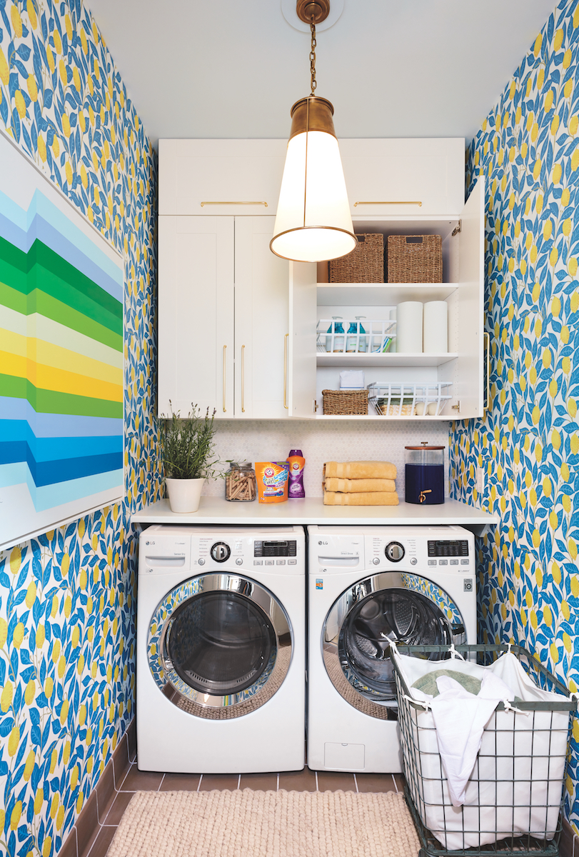 Real Simple Home Laundry Room with plant