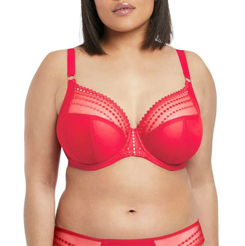 plus size red bra