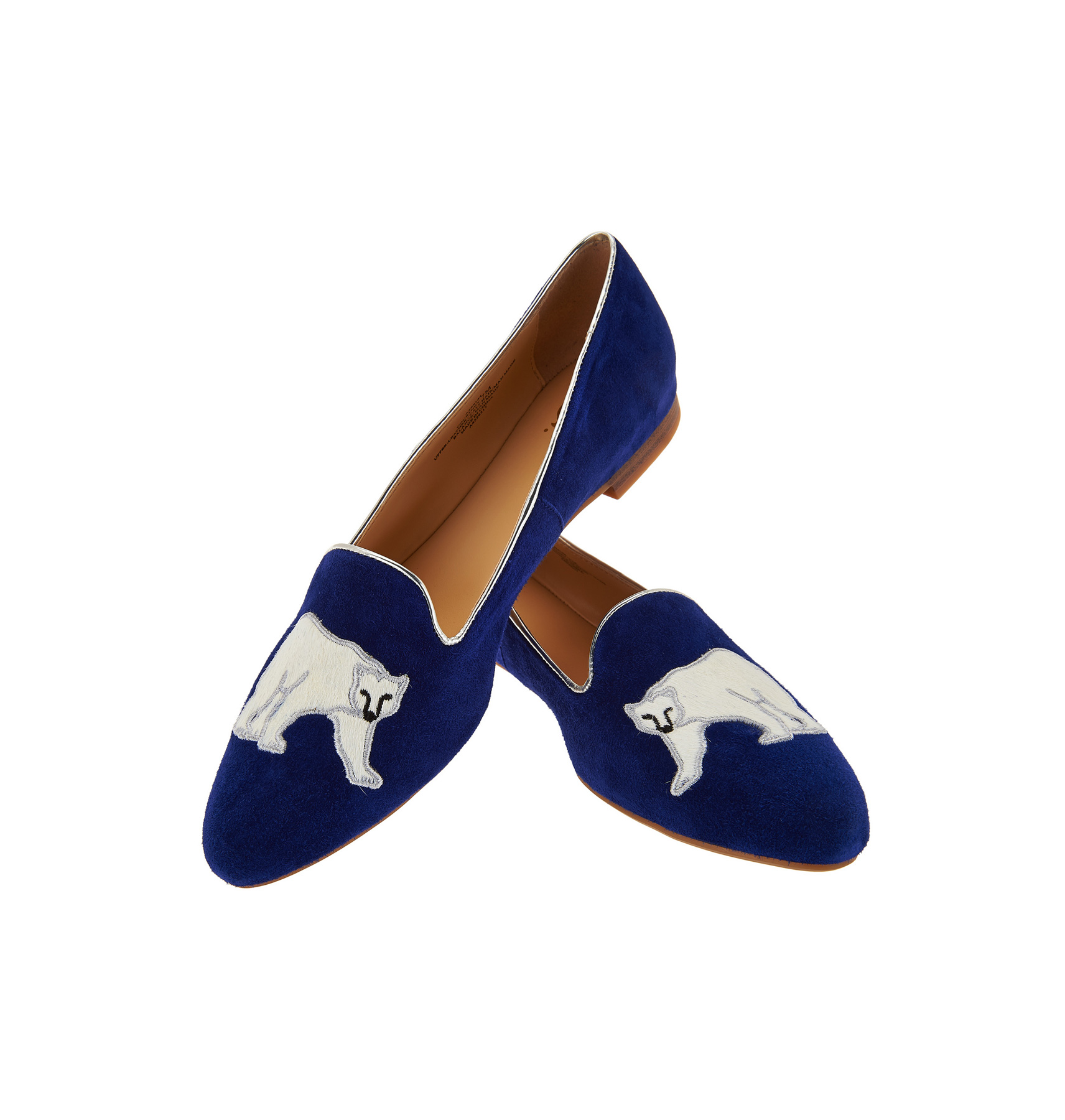 Polar Bear Suede Loafers
