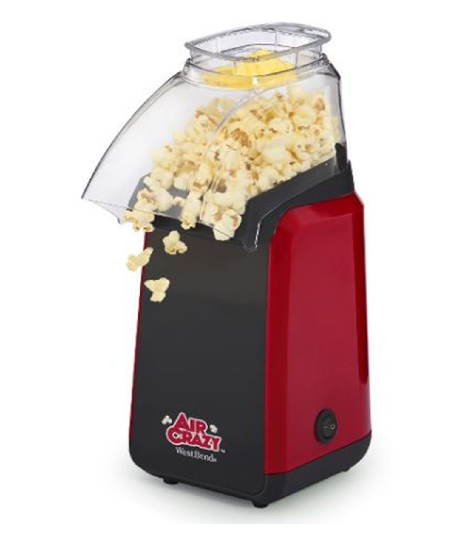 West Bend Air Crazy Popcorn Maker Machine in red