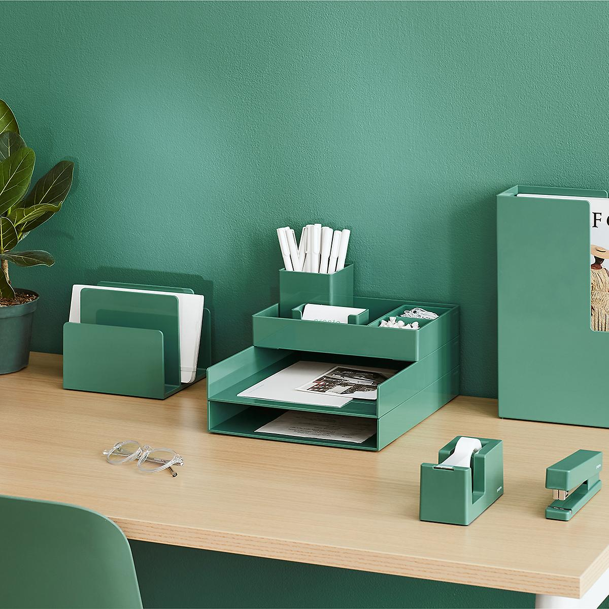 Poppin green desk set