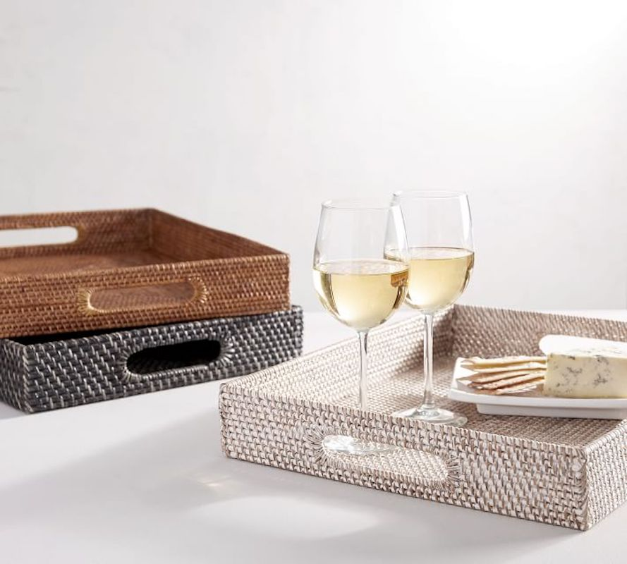 Woven tray for mail and papers