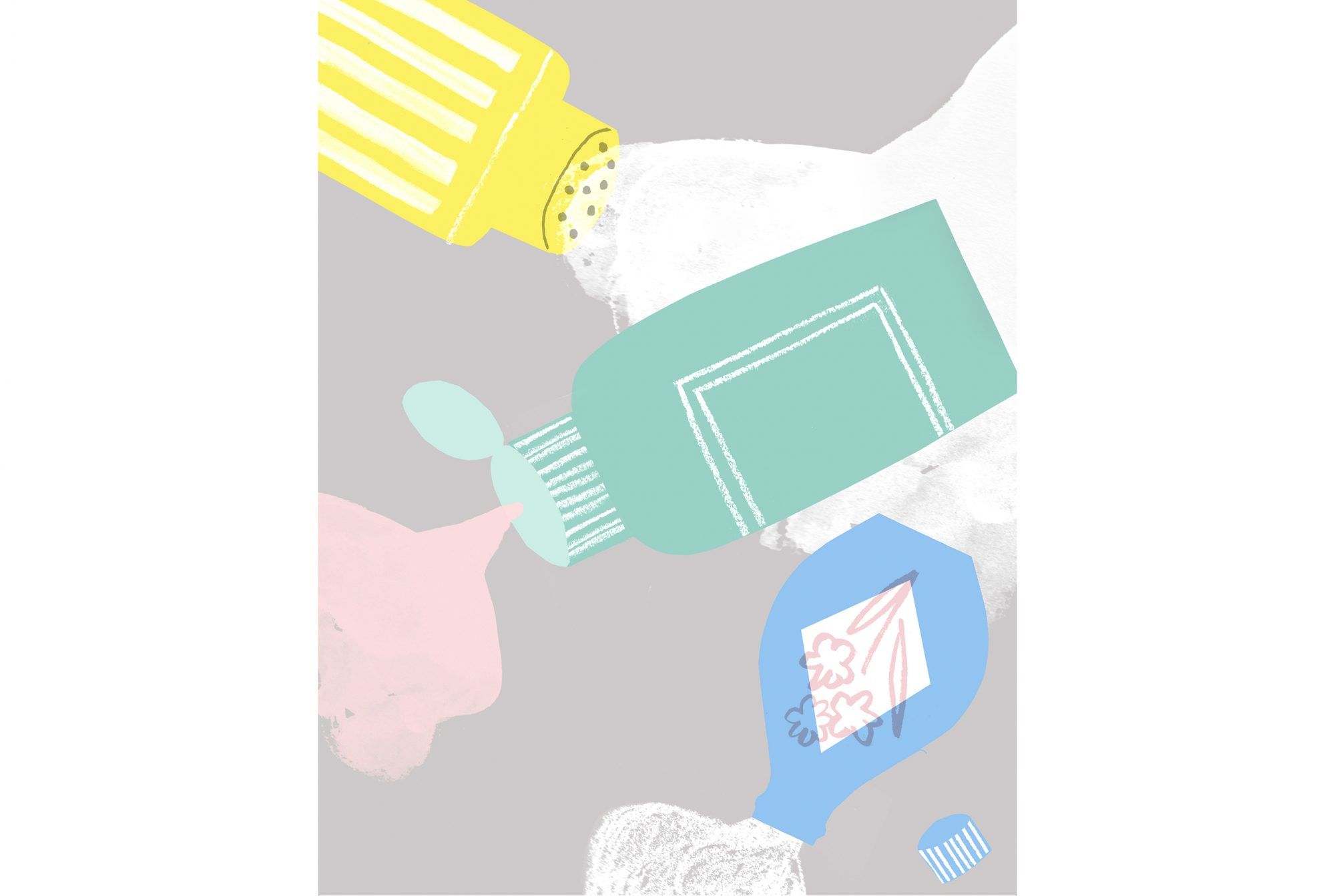 Illustration: powders, lotions, shampoos