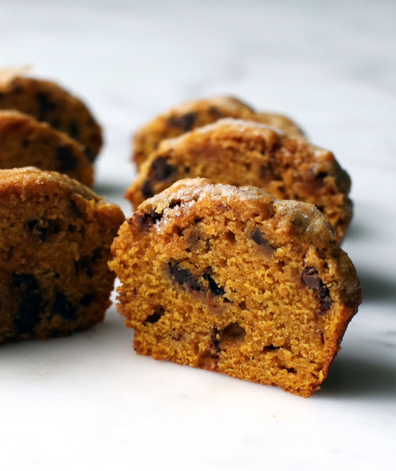 Pumpkin Muffins With Chopped Chocolate
