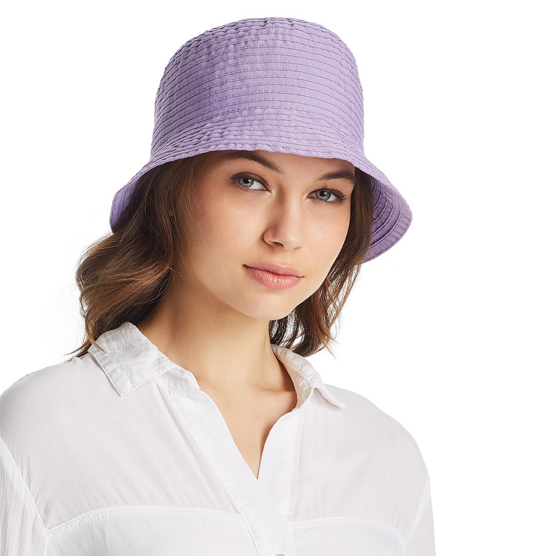 Aqua Ribbon Bucket Hat
