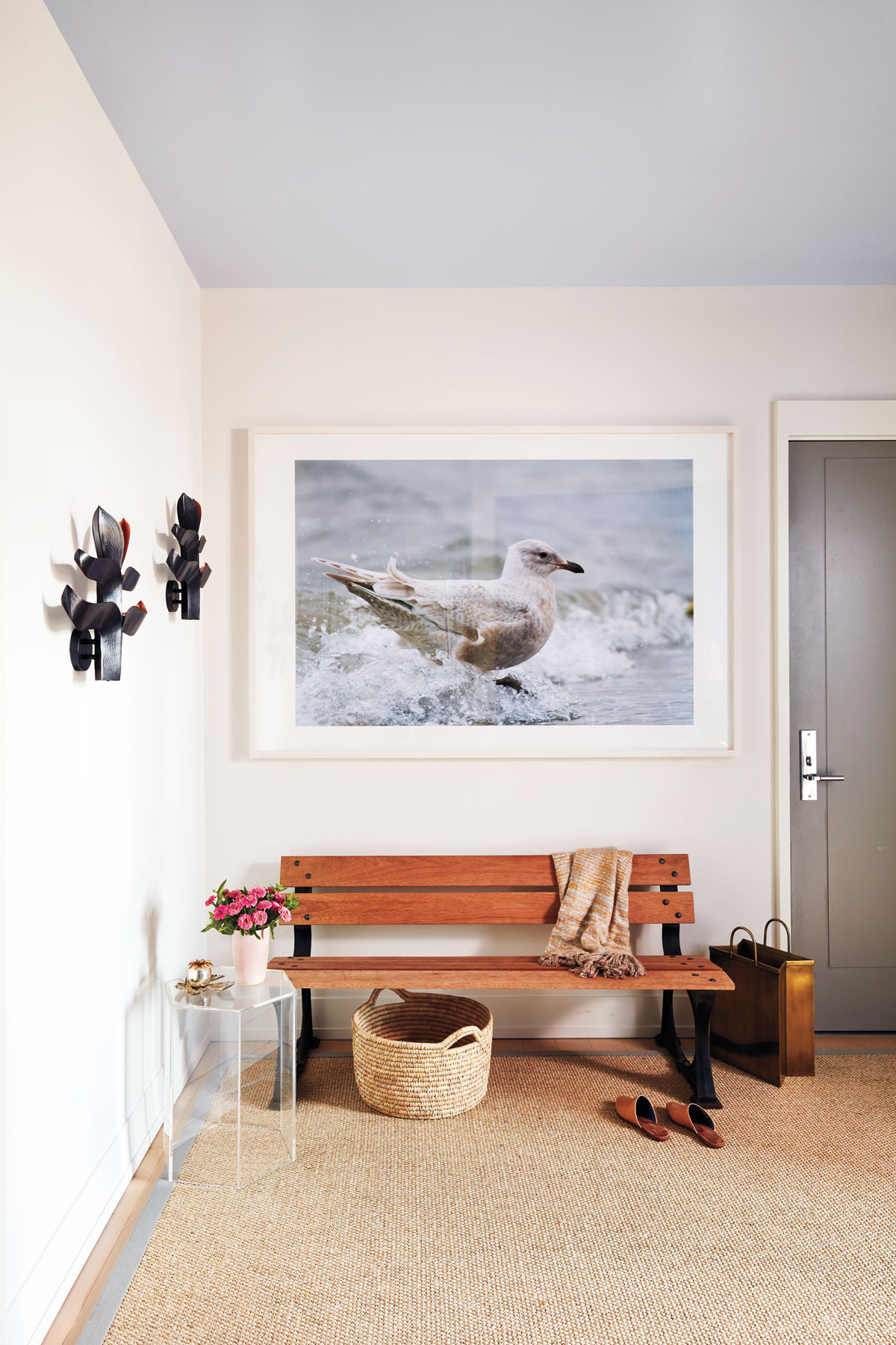 RS Home entryway - bold bird photograph