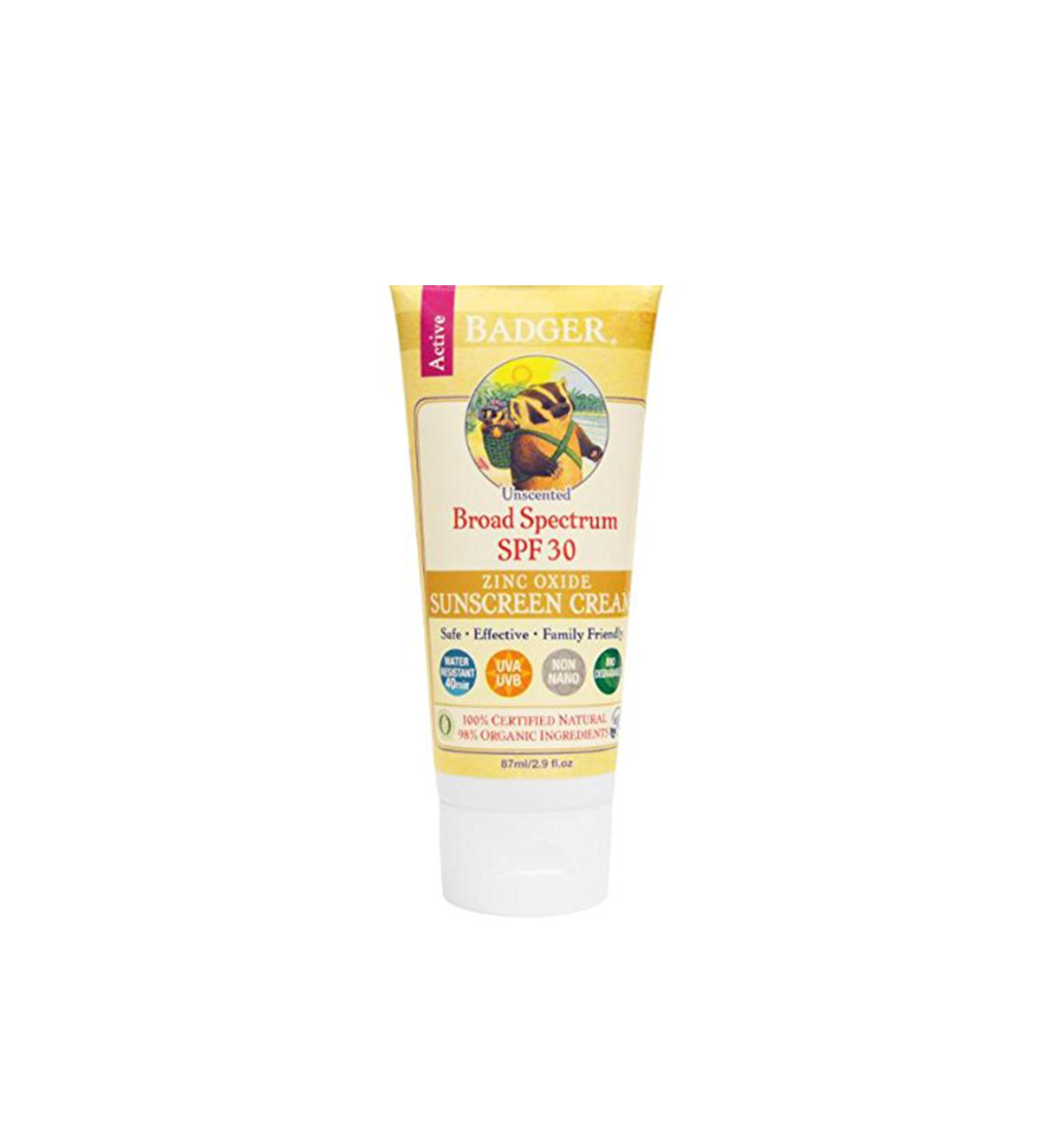 Reef Safe Sunscreen, Badger SPF 30 Unscented Sunscreen Cream