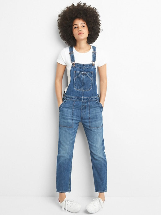 Relaxed Denim Overalls