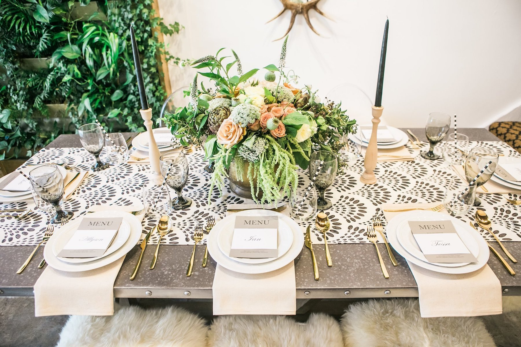 Decorated dinner table by Table + Teaspsoon