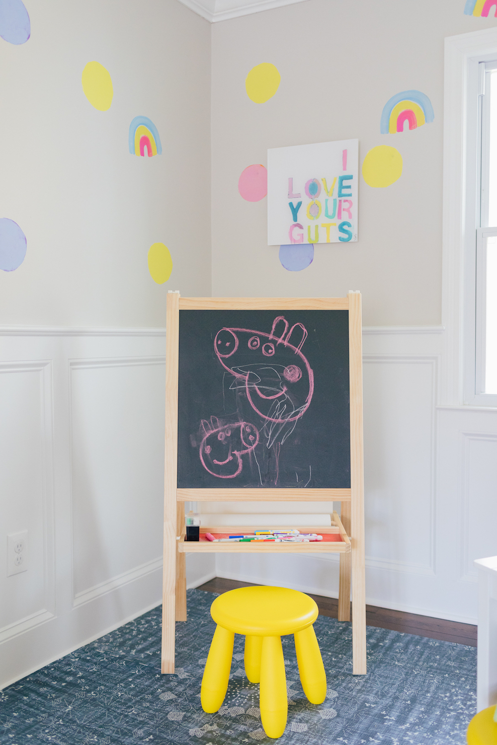Rental Upgrades, Stick-on Wallpaper in play room