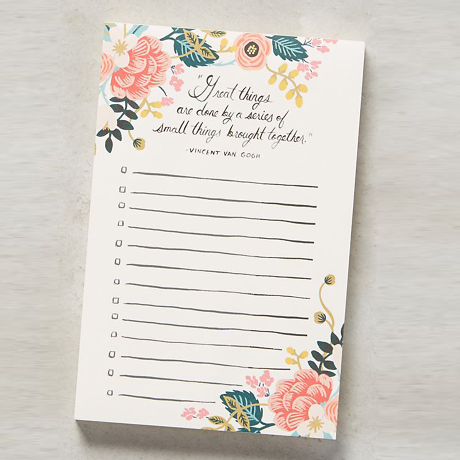 Anthropologie Rifle Paper Co. Great Things Notepad