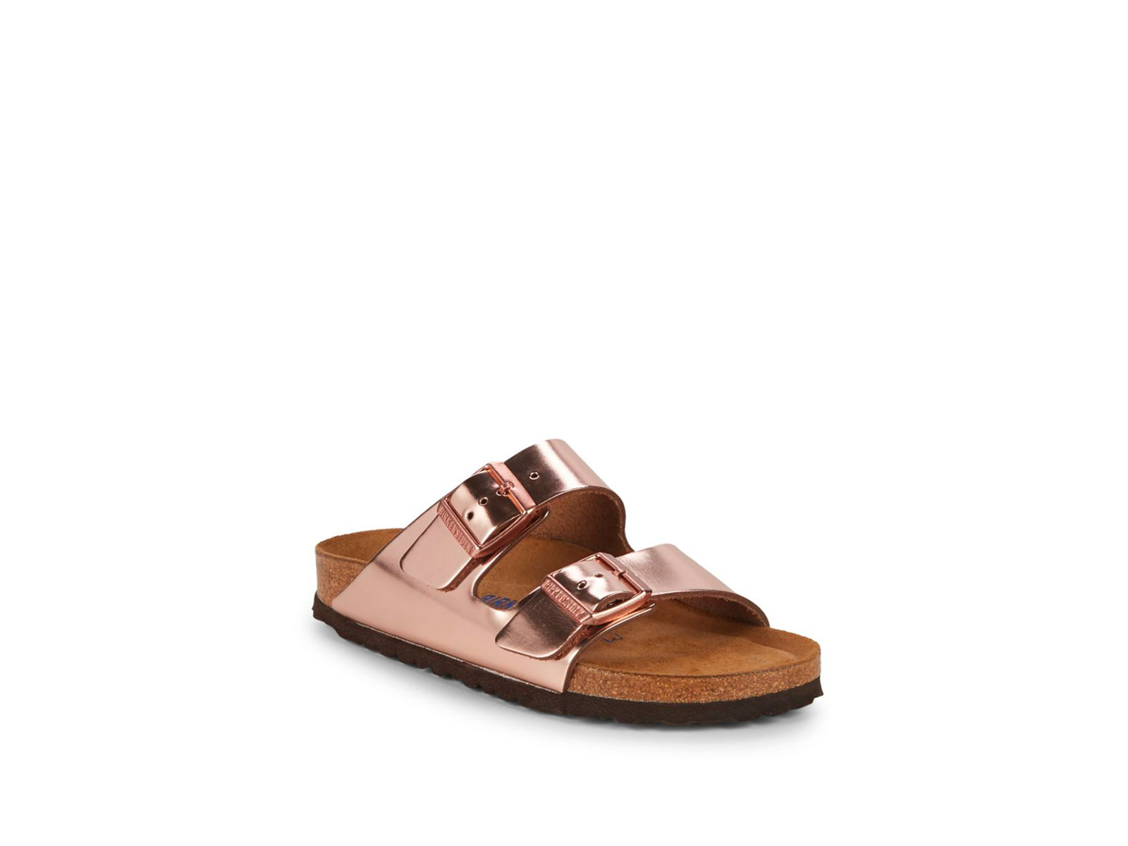 birkenstock metallic slip-on sandals
