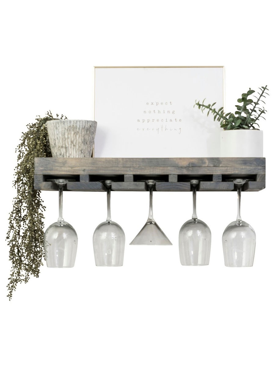 Rustic Luxe Tiered Glass Rack