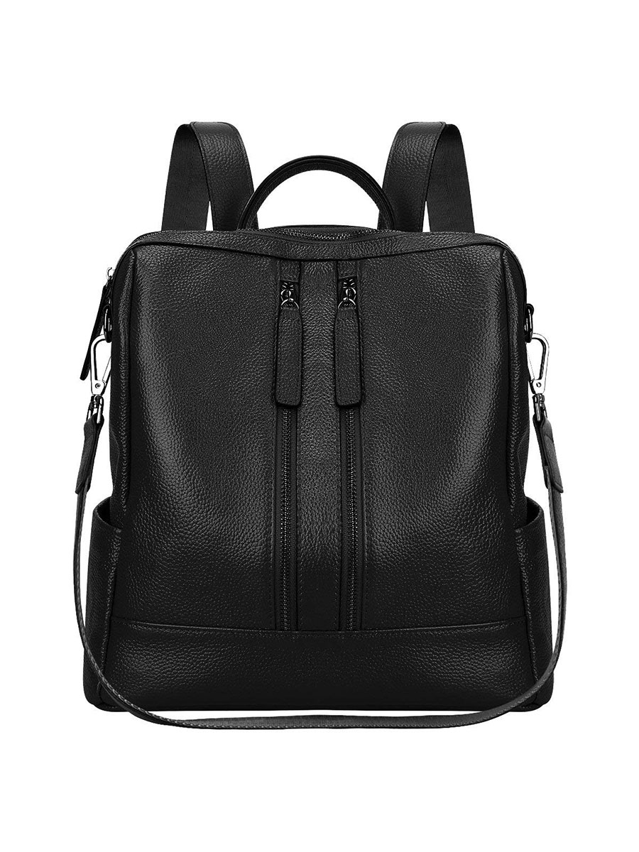 S-Zone Genuine Leather Convertible Backpack and Tote Bag