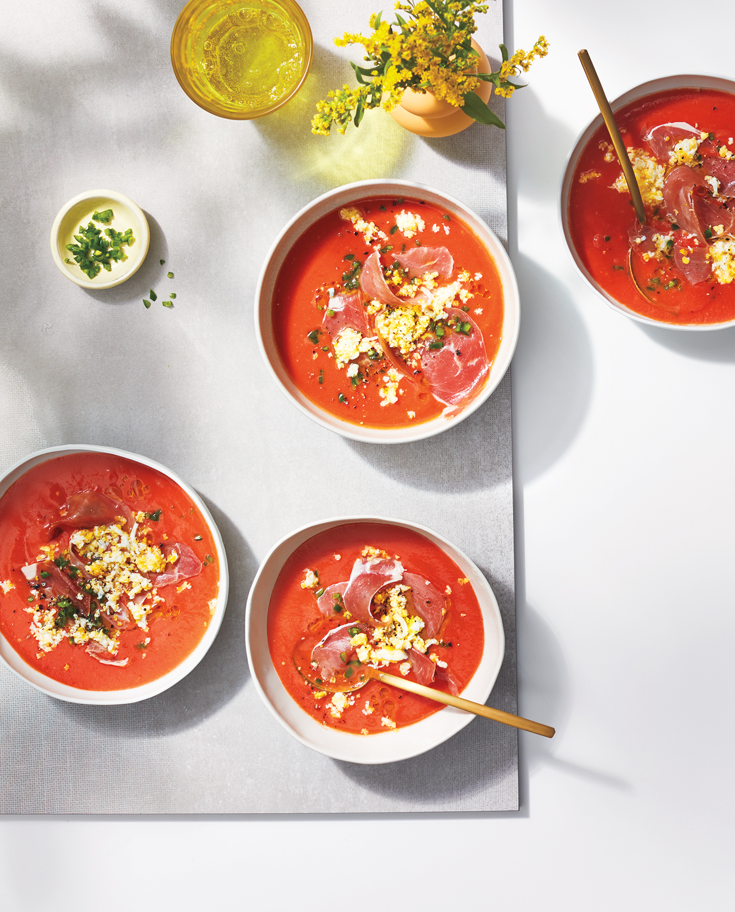Salmorejo with Prosciutto and Hard-Boiled Egg