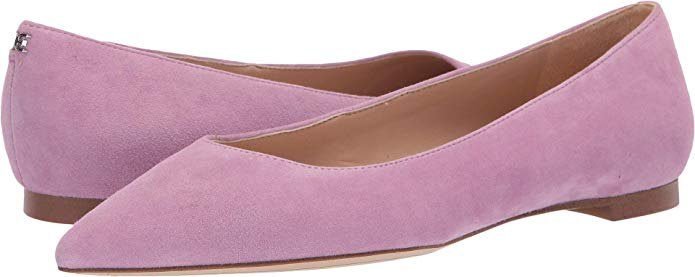 suede flats with pointed toe