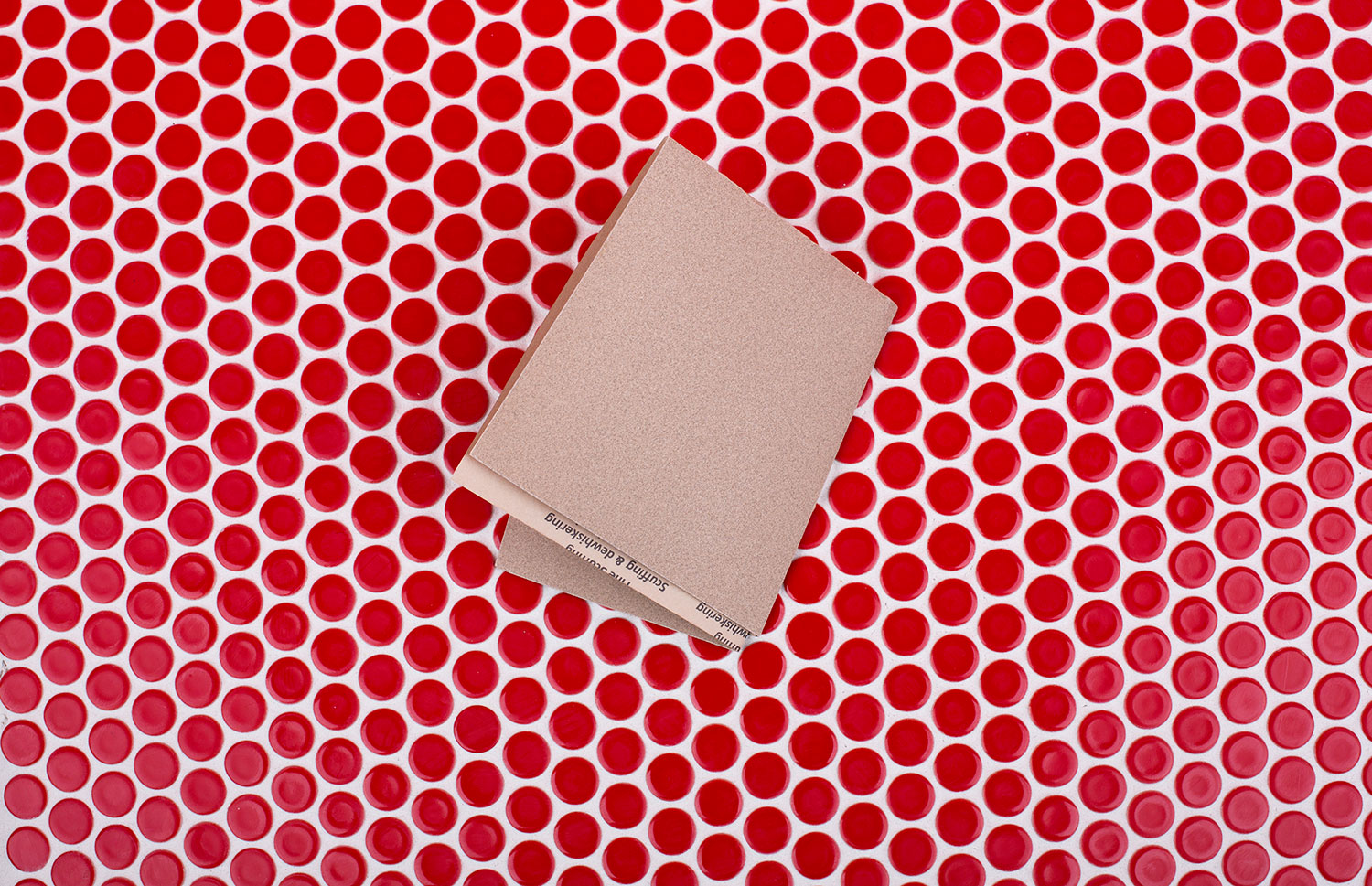 Sandpaper as Grout Cleaner