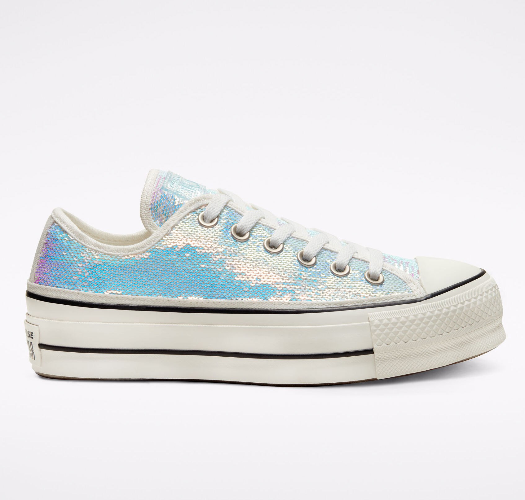 sequined platform Converse sneakers for women