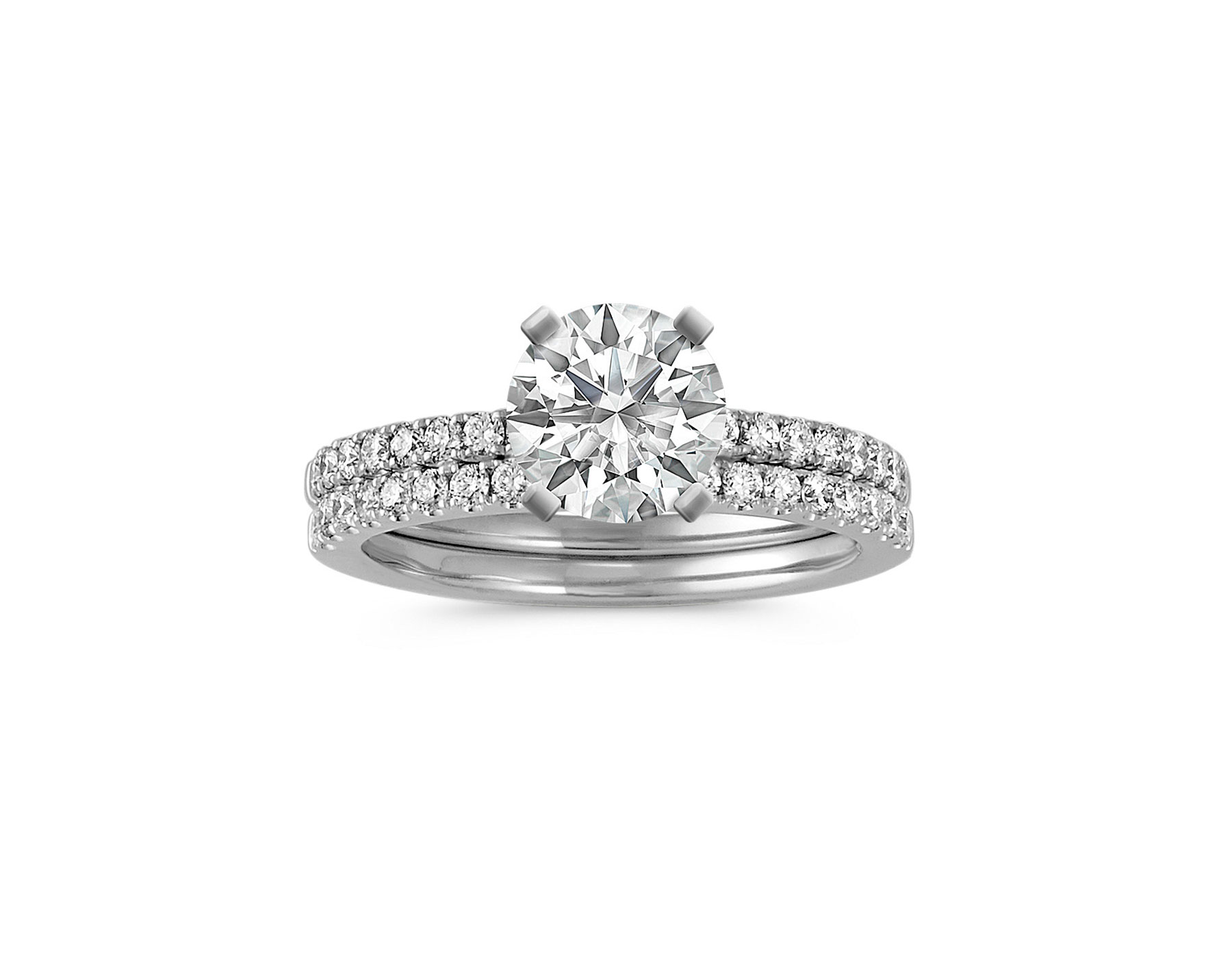 shane co diamond wedding ring set