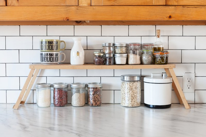 Add Shelf Stackers in the Kitchen