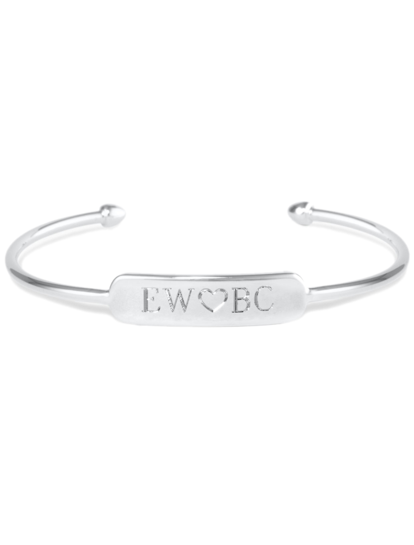 Signature Engravable Bar Cuff