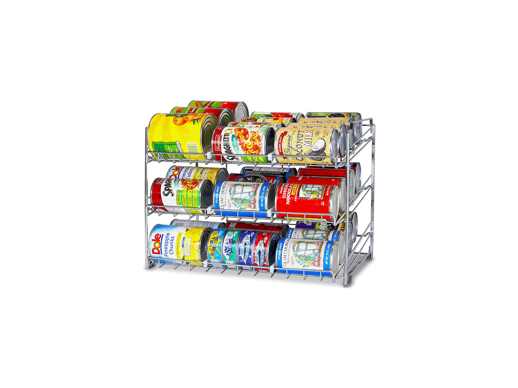 SimpleHouseware Stackable Can Rack Organizer