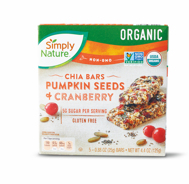 Simply Nature Pumpkin Seed Cranberry Chia Bars