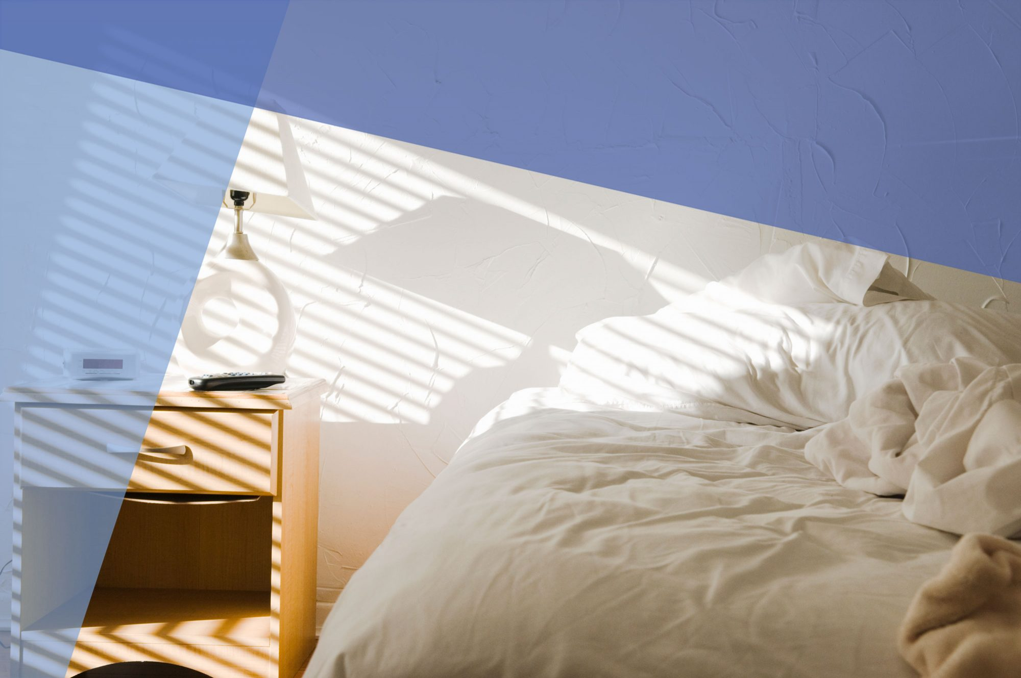 Common Sleep Mistakes, Learn How to Sleep Better, white bed and wooden nightstand