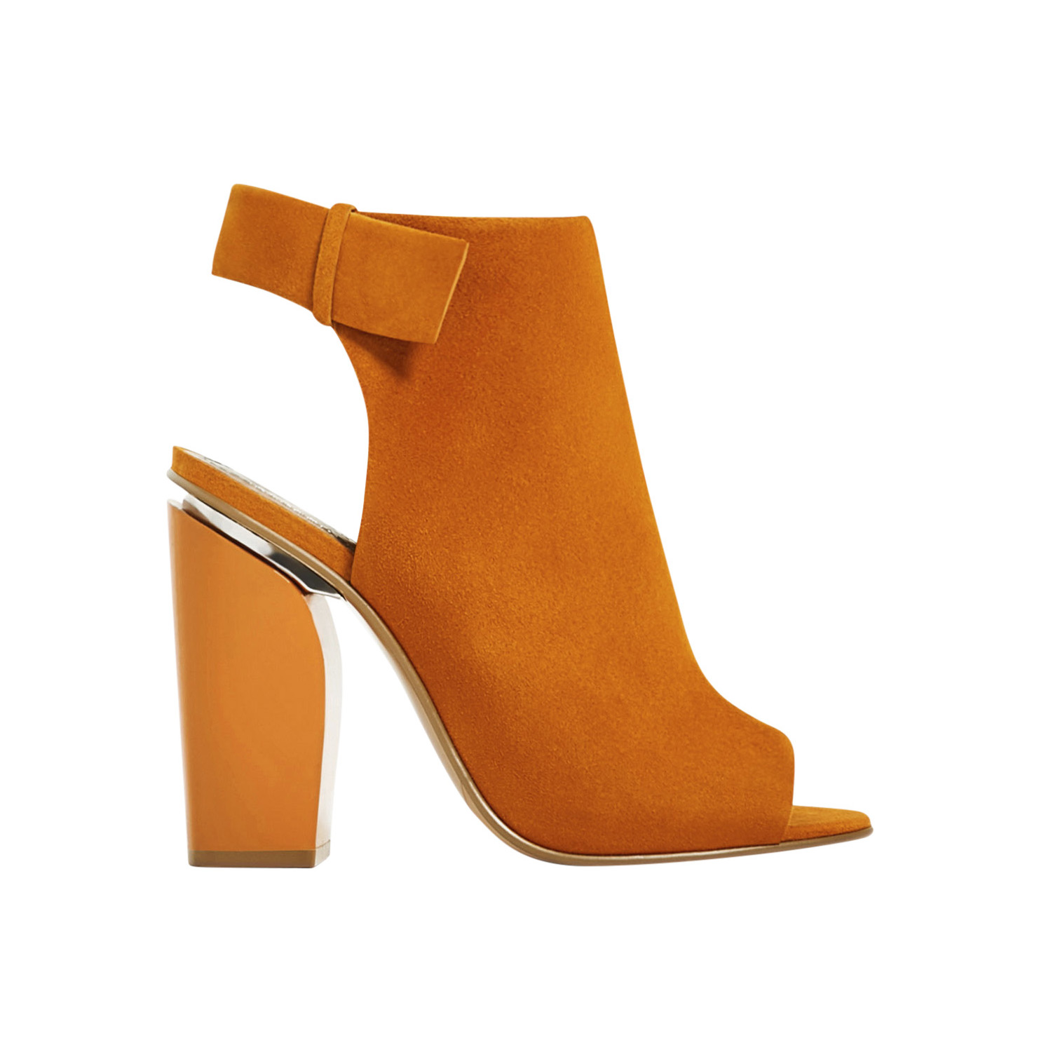 Zara Slingback Leather Ankle Boots