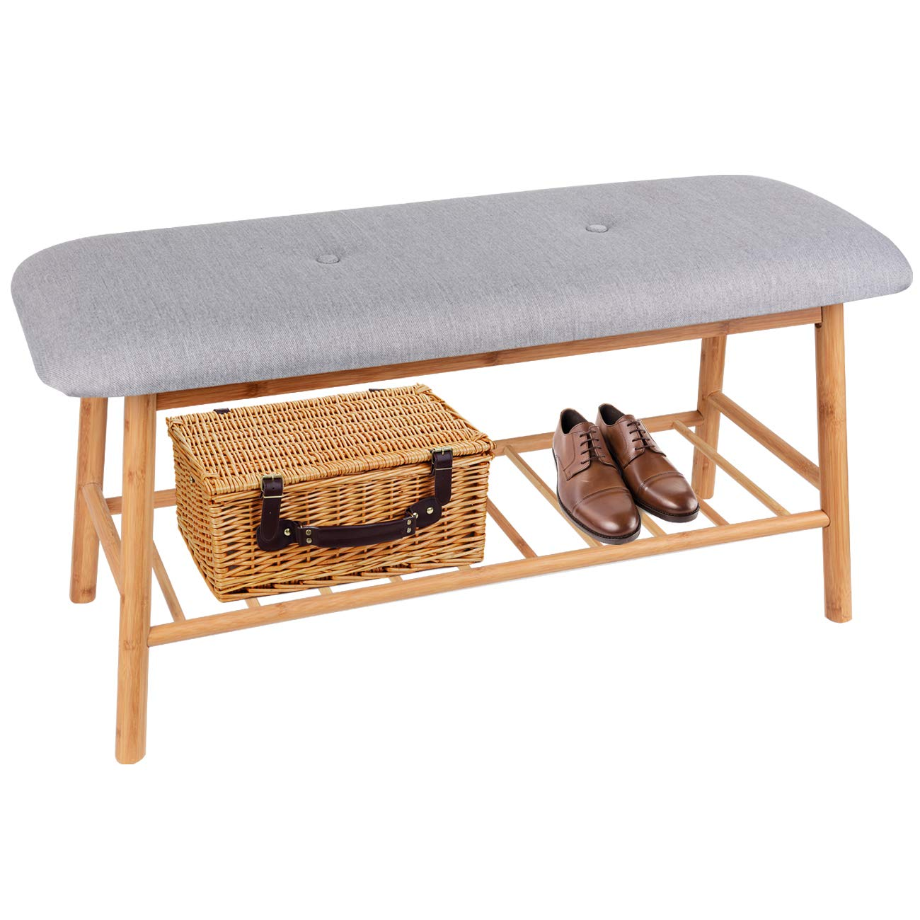 Small Upholstered Entryway Bench