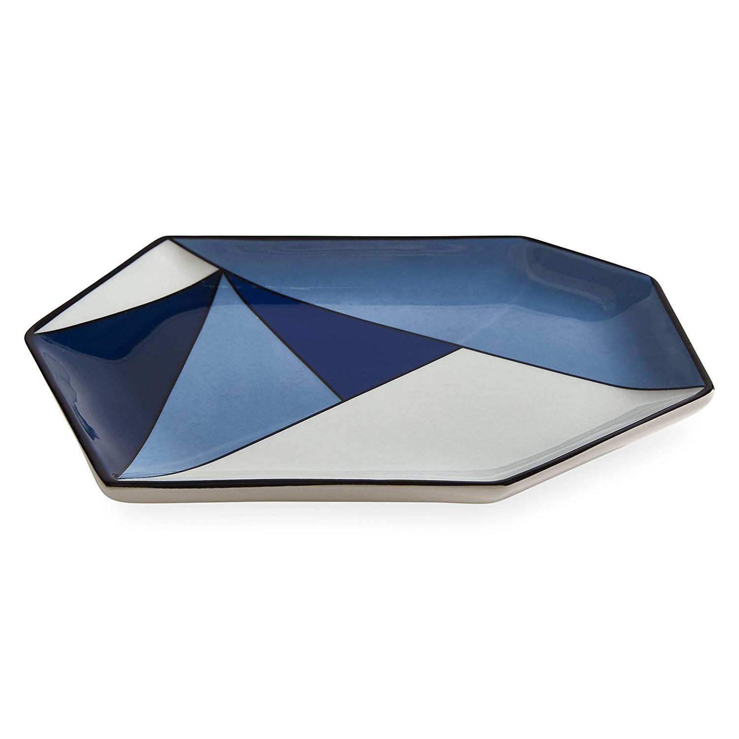 Color blocking blue kitchen tray