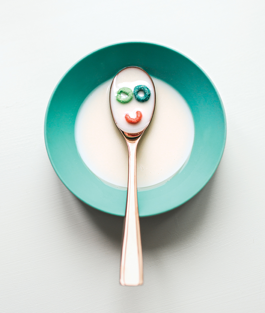 smile face cereal spoon