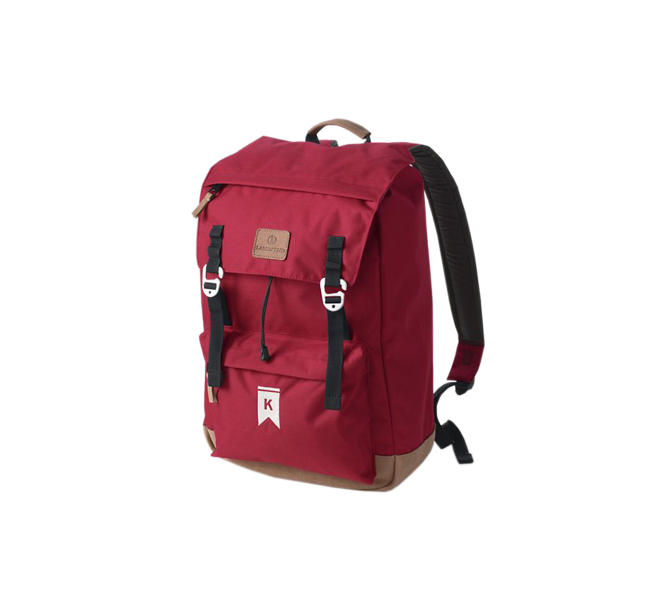 Lands' End Solid Campus Flap-over Backpack Red