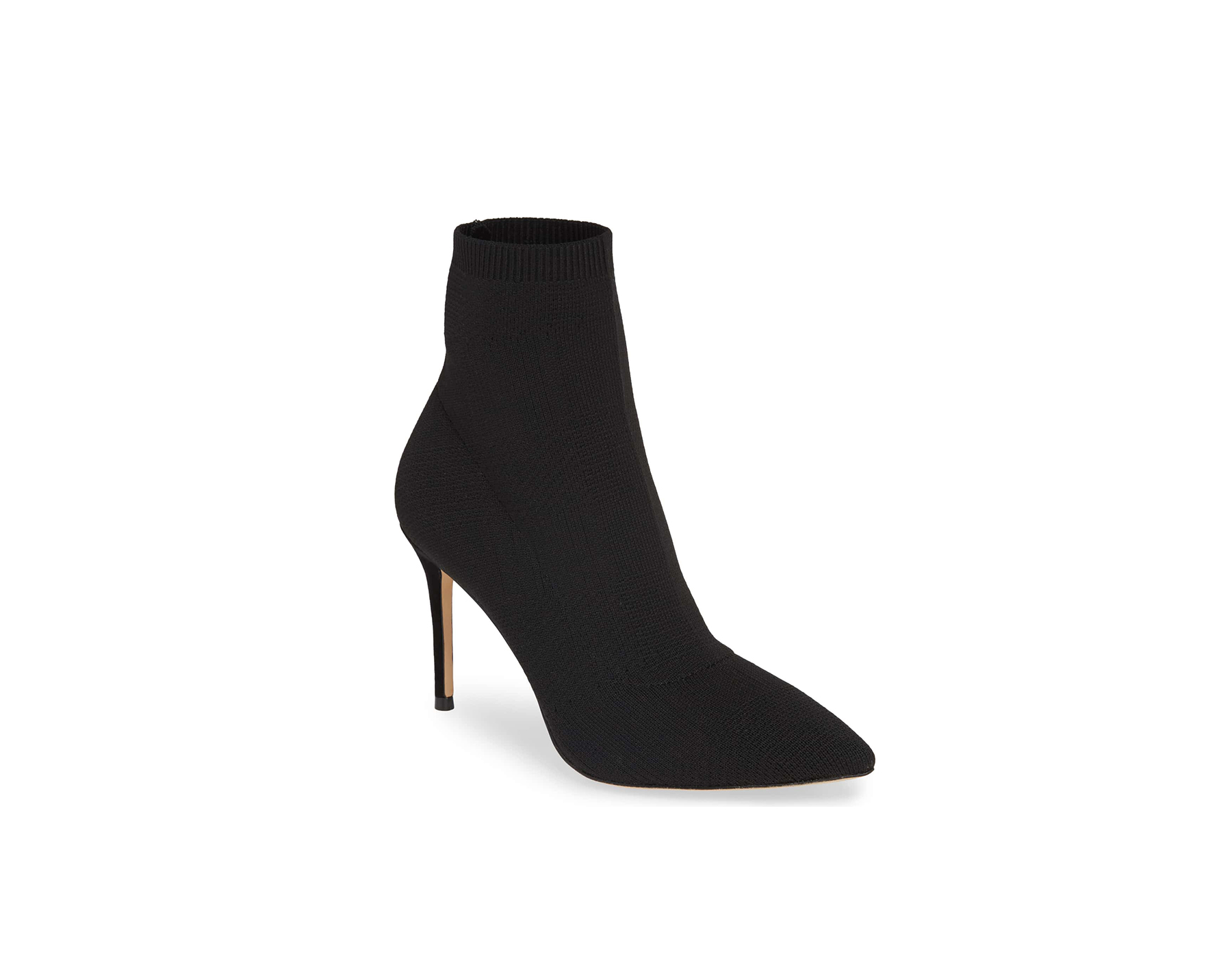 something navy black ankle bootie