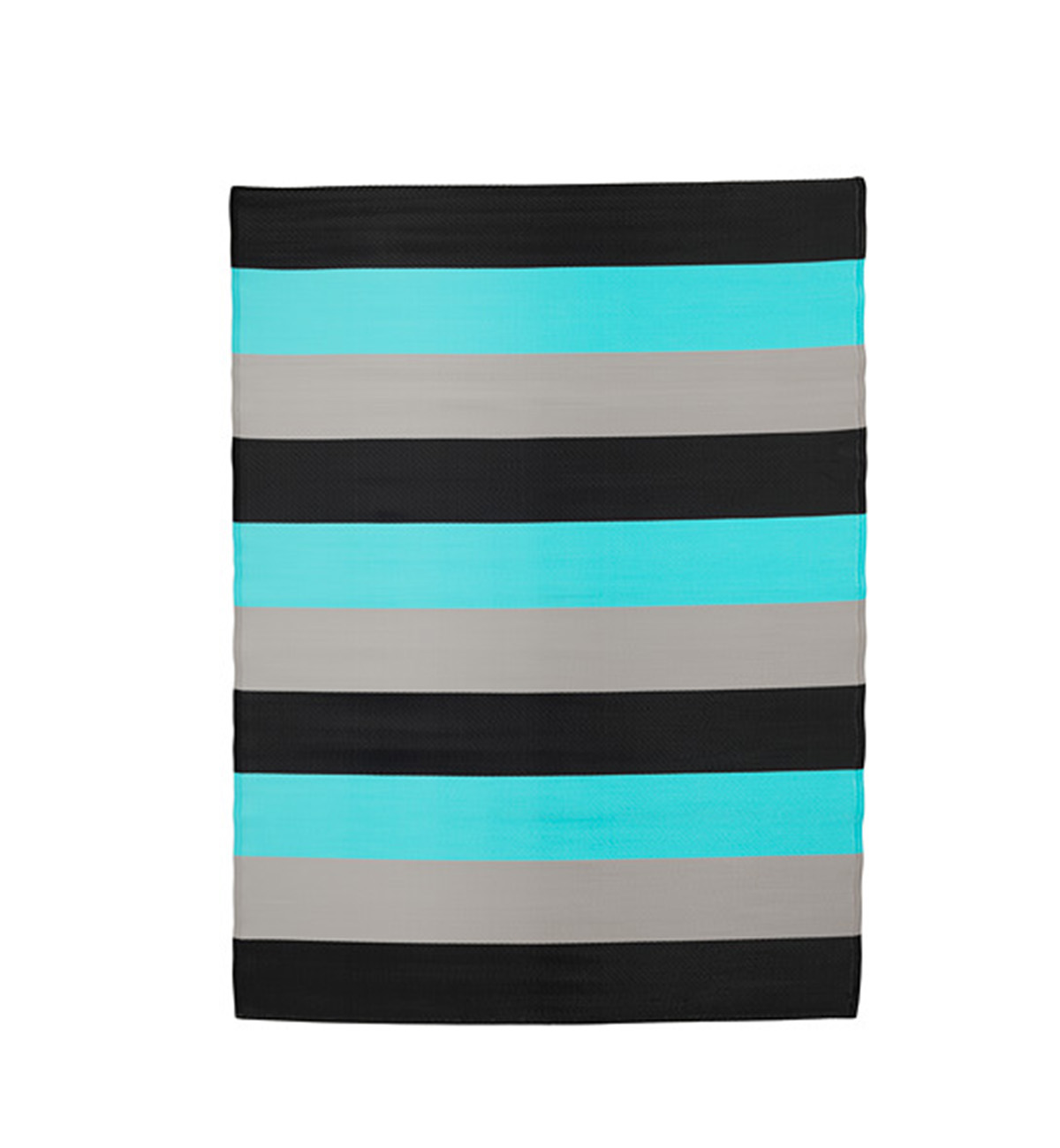 Sommar Striped Rug blue and black