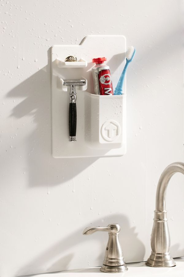 A Wall-Hanging Toiletries and Toothbrush Holder