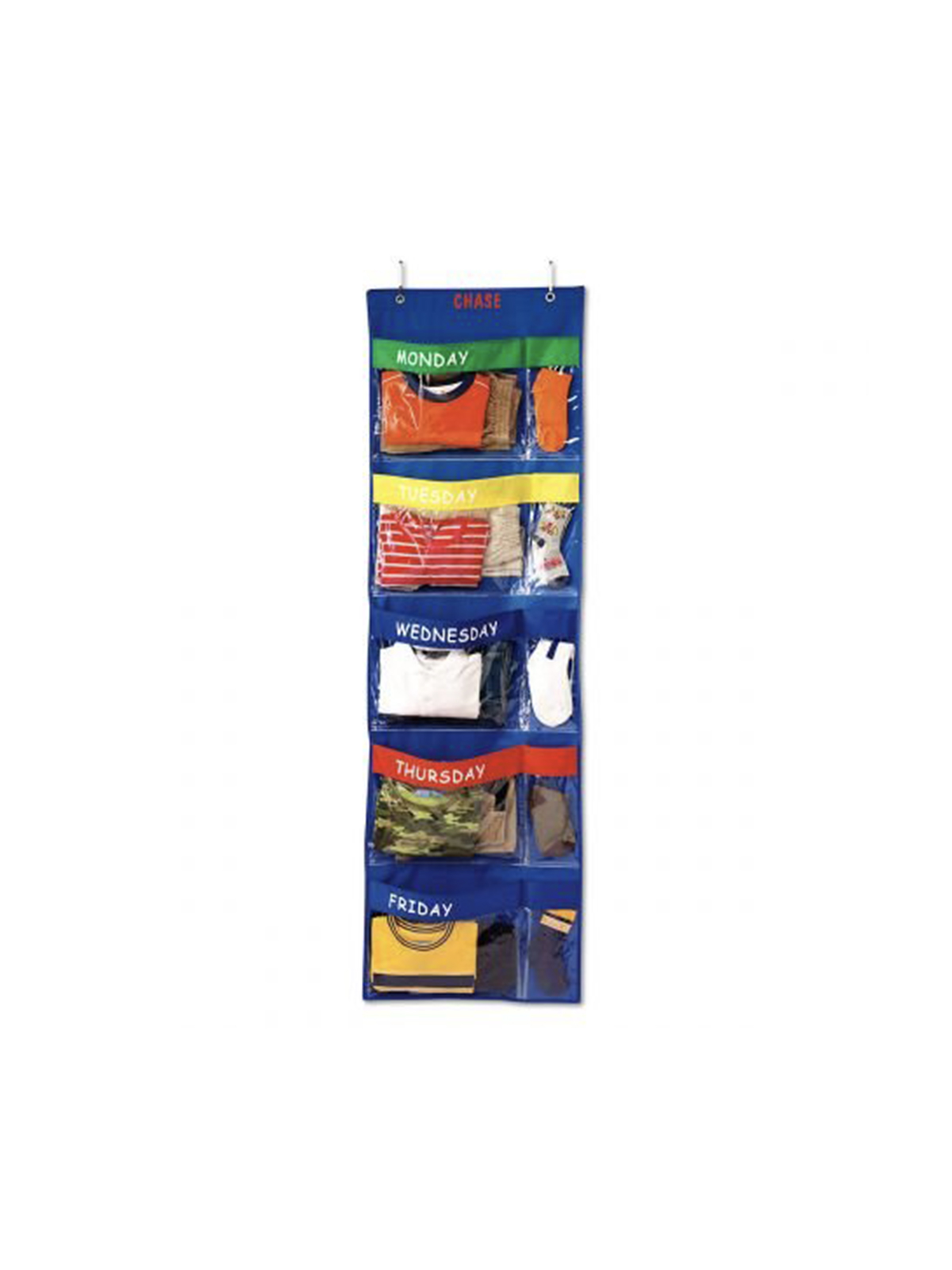 Days of the Week Closet Organizer for Kids