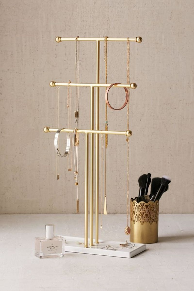Gold Jewelry Organizer