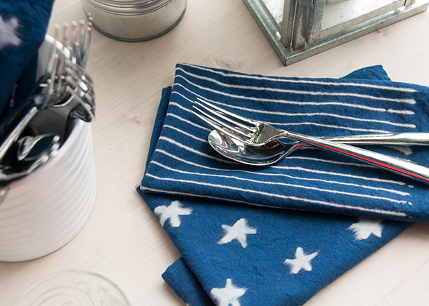 Indigo Stars and Stripes Napkins