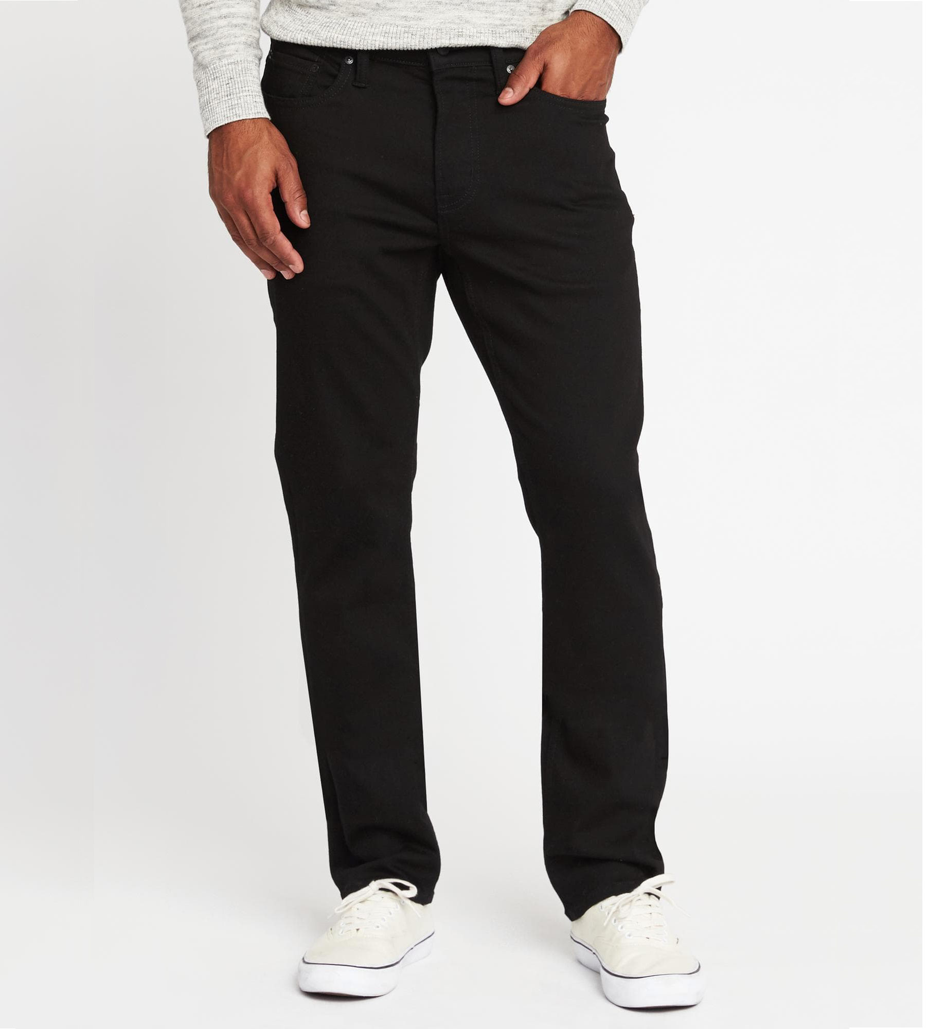 Straight Built-In Flex Max Never Fade Jeans for Men