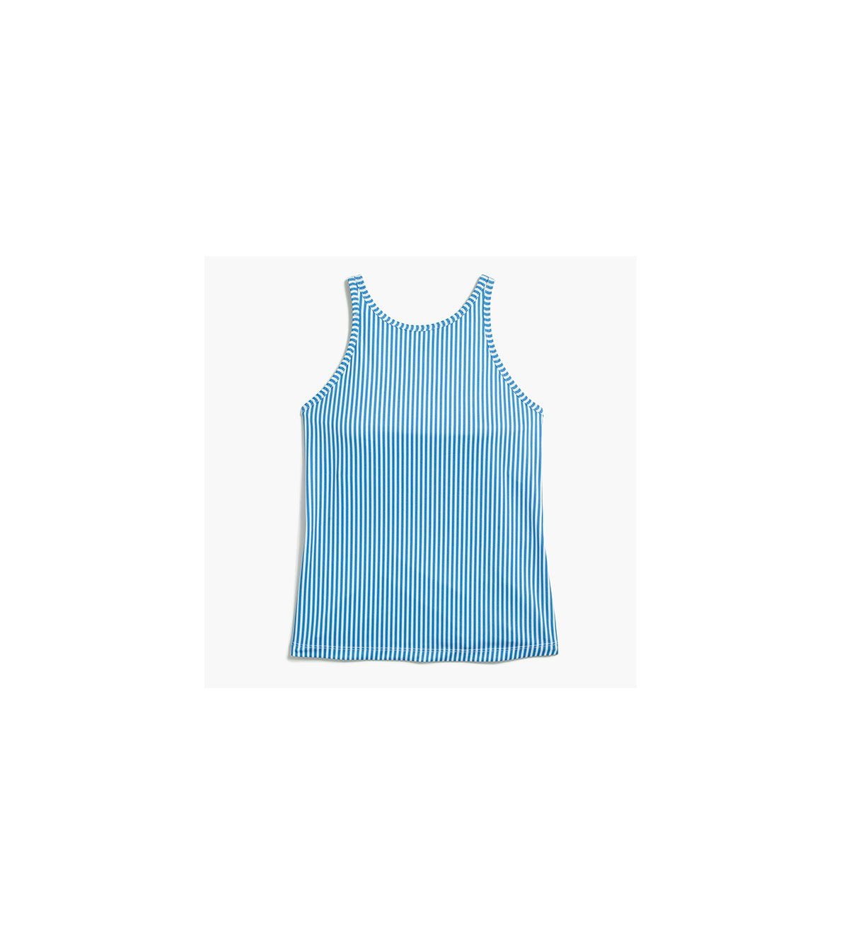 Striped Racerback Tank Top With Built-in Sports Bra