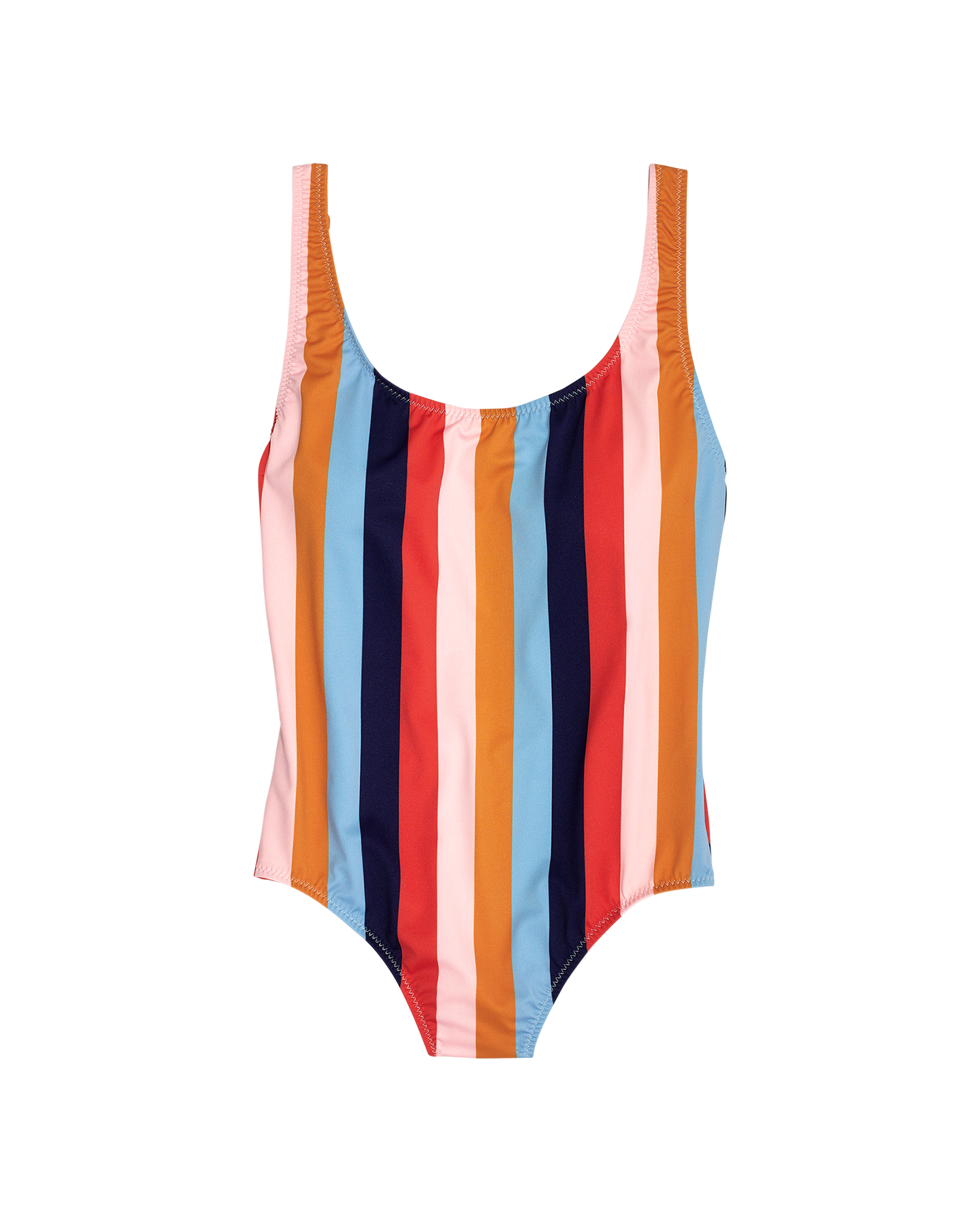 colorful striped madewell swimsuit beach