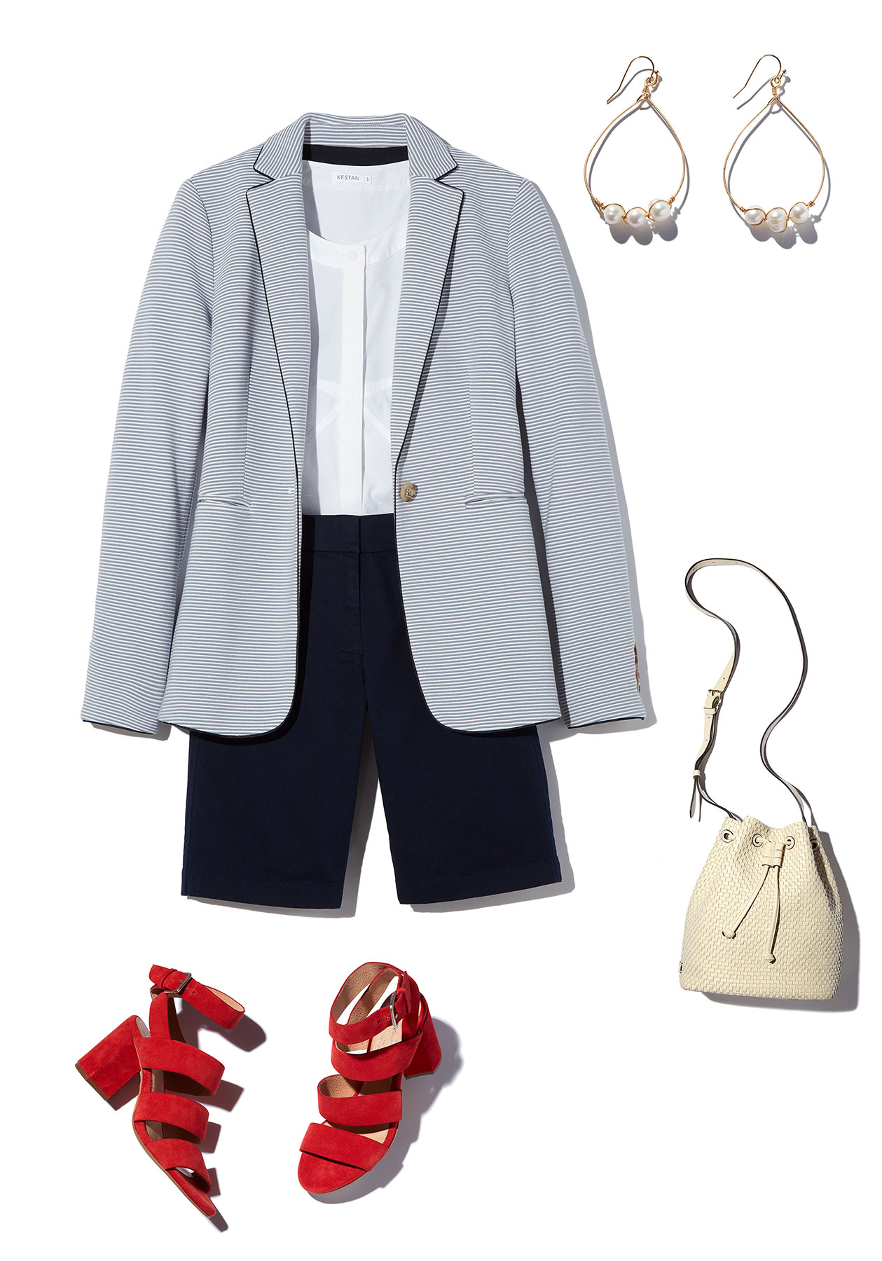 How to Style Bermuda Shorts: Blazer