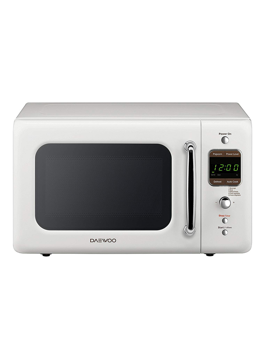 Stylish Microwave and Toaster Ovens, Daewoo microwave in white