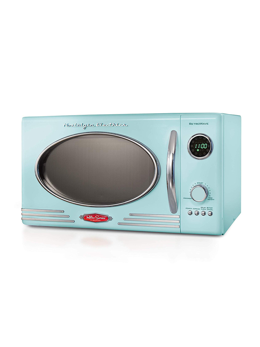 Stylish Microwave and Toaster Ovens, Nostalgia in mint green