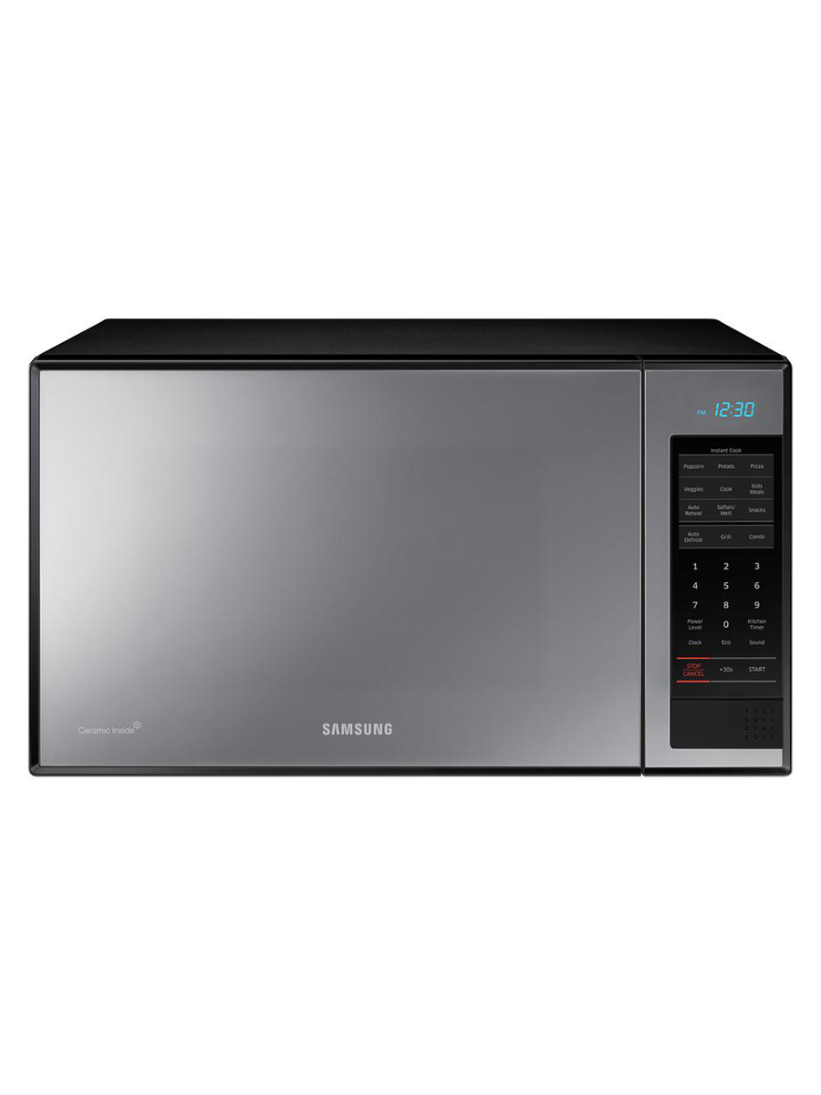 Samsung silver mirrored microwave