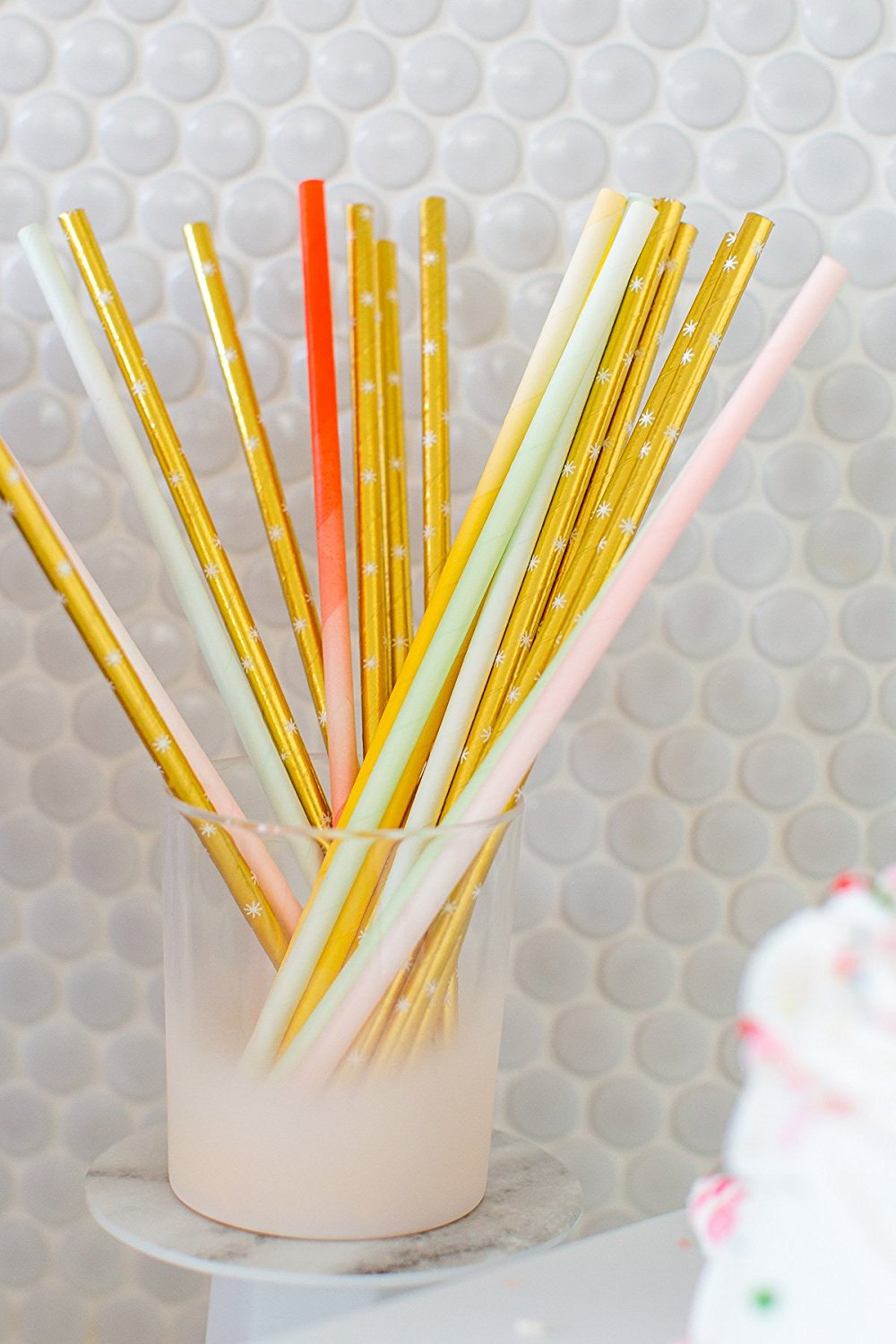 Sugar & Cloth Paper Straws in multicolor