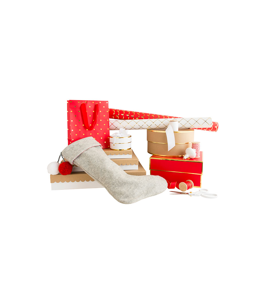 Sugar Paper Red Gift Wrap Collection